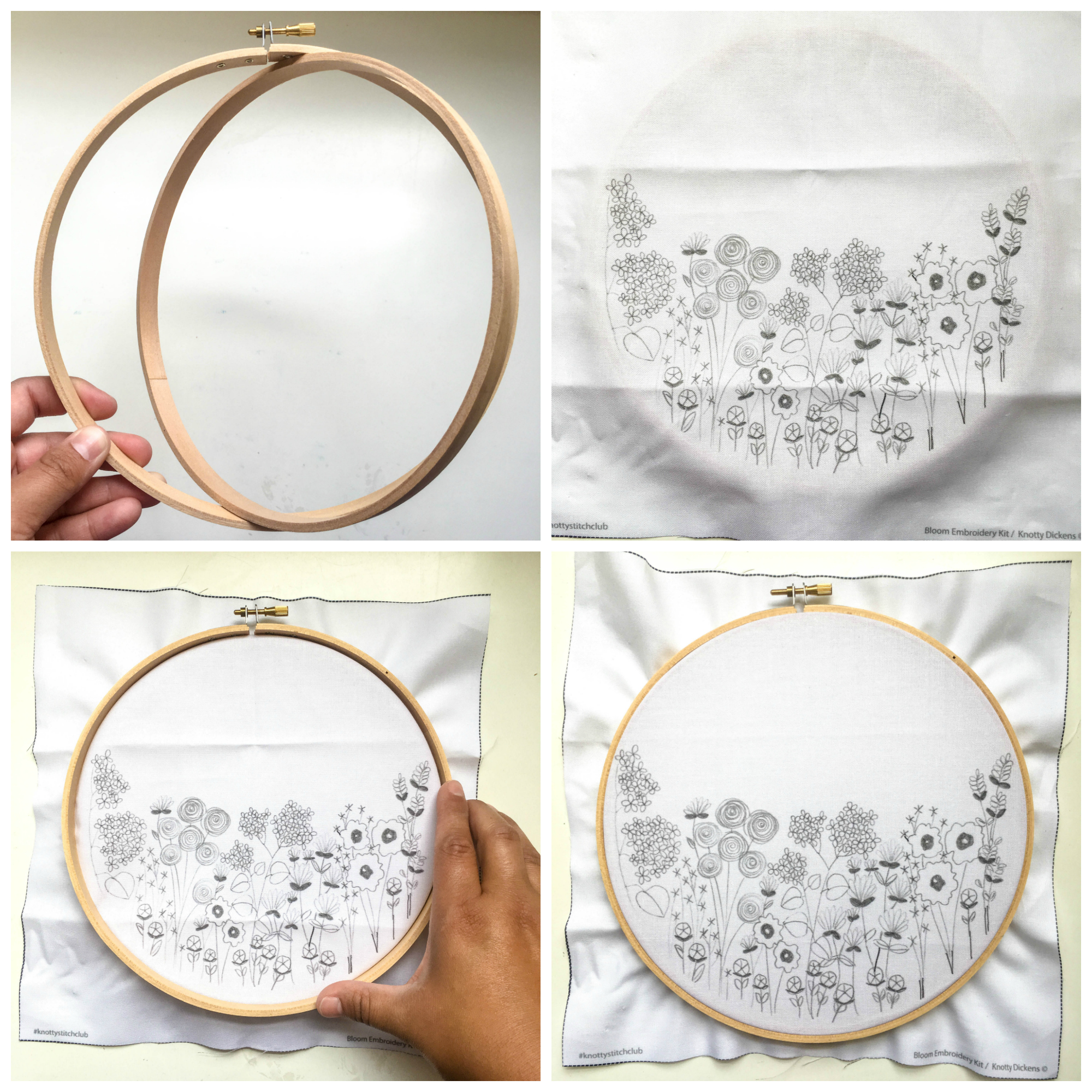 How To Put Fabric Inside Embroidery Hoop